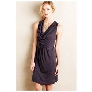 Anthropology by Maeve Black Cowl Neck Dress Sz S